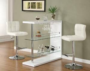 N-e-w Bar Table Glossy White (No credit check financing)