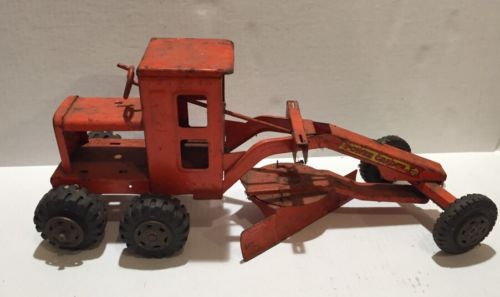Vintage Orange Marx Lumar Power Grader Outdoor Toy Boy Dirt Classic Construction
