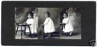 Pair Photo strip Cabinet Card Photograph PHOTO