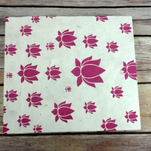 Small Pink Lotus Flower Journal Notebook Diary 7