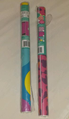 Decorative Vinyl Covering Printed Wall Paper Peal and Stick Girls Locker  New