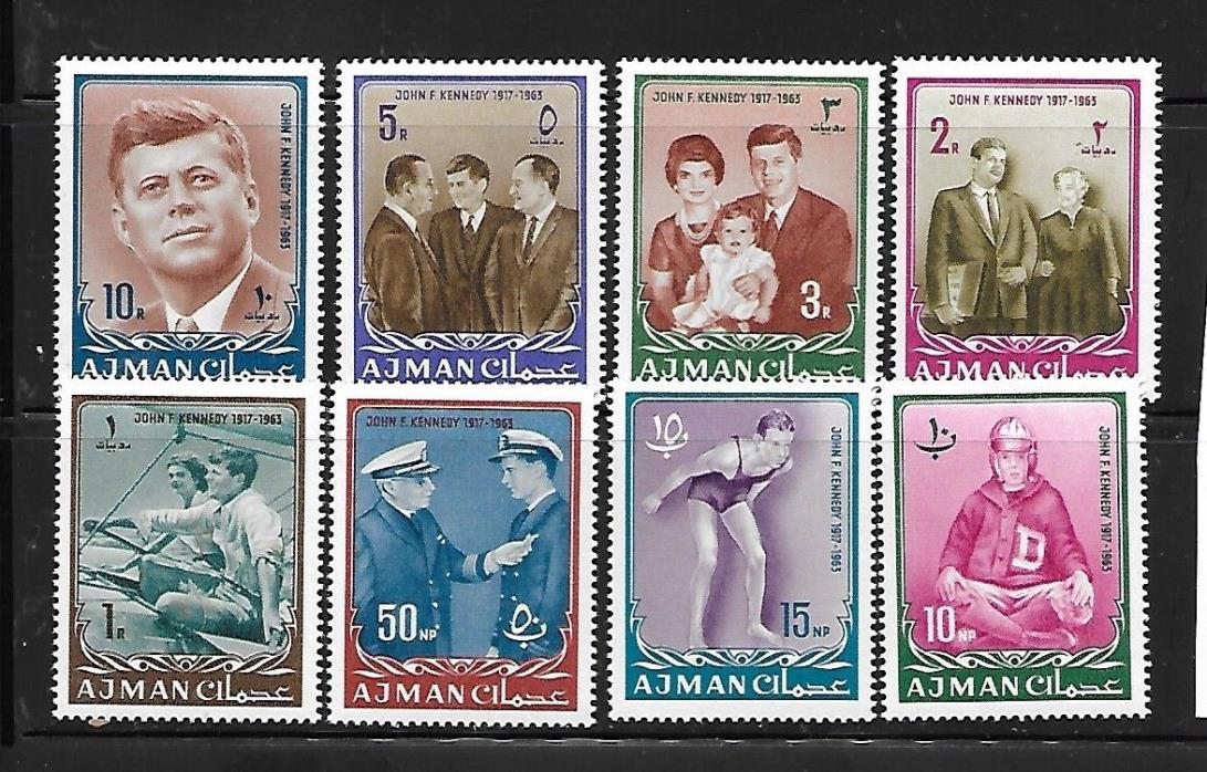 AJMAN Sc 19-26 NH ISSUE OF 1964 - KENNEDY