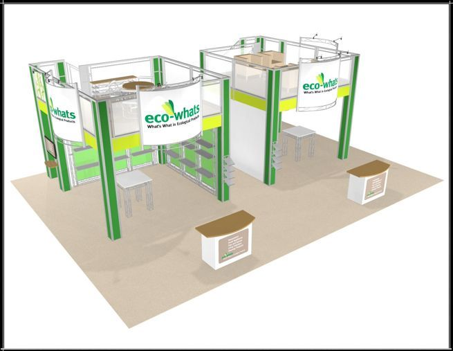 Double Deck Trade Show Booth Exhibit 30 x 40  Display
