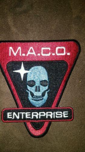 COOL Uniform PATCH from Star Trek Enterprise: M.A.C.O. Skull Logo 3¾