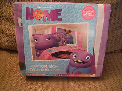 NEW DREAMWORKS HOME BFF FOREVER Cotton Rich Twin Sheet Set
