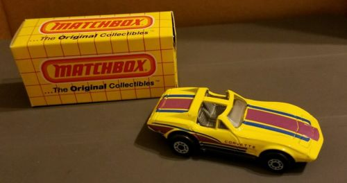 Matchbox Lesney No 58 CORVETTE T TOP 1979 BASE MINT IN BOX