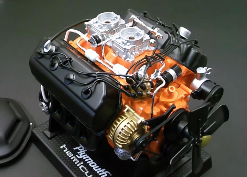 Rare! Plymouth 426 Hemi Cuda Engine Replica 1/6th Scale MIB Out of Production!