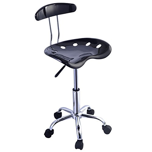 Costway 2PC ABS Tractor Seat Bar Stool Adjustable Swivel Chrome Chair Kitchen