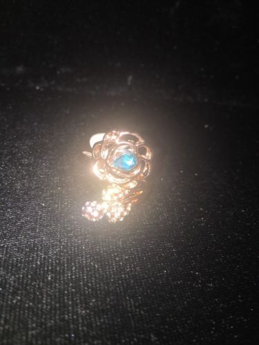 Rose Gold Ring With Turquoise Sapphire