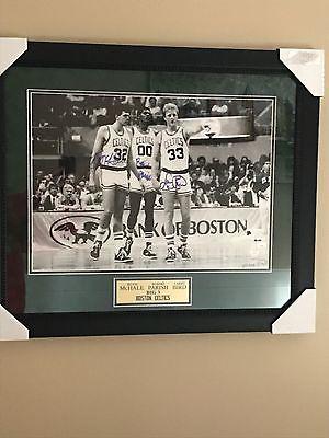 Boston Celtics Framed Picture Autograph
