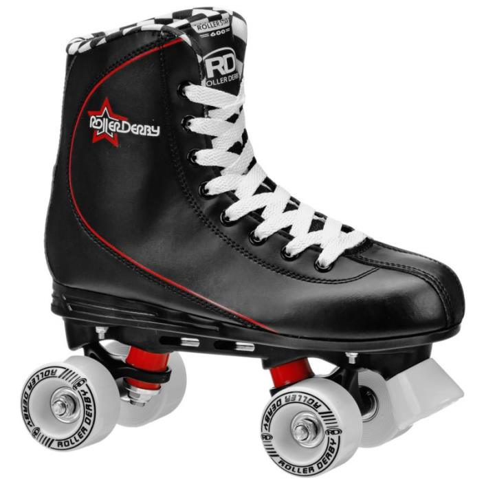 Roller Derby Skates Men's Outside Roller Star 600 Quad Skate Black Size 9,10,11