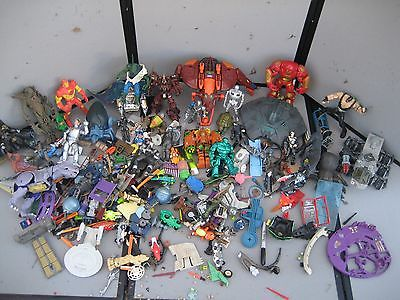 Collectible Toy lot Hulkbuster Spawn Star Trek Borg Iron man Exo Squad ID4 Bane