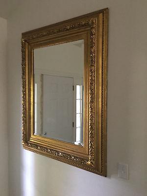 Antique 19th Century Gold Gilt & Gesso Oak Leaf Acorn Wall Mirror