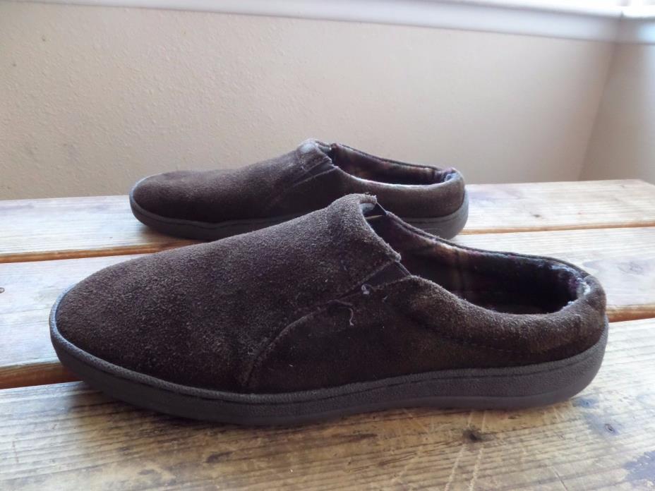 Clarks Brown Suede Cozy Slippers Men's 10