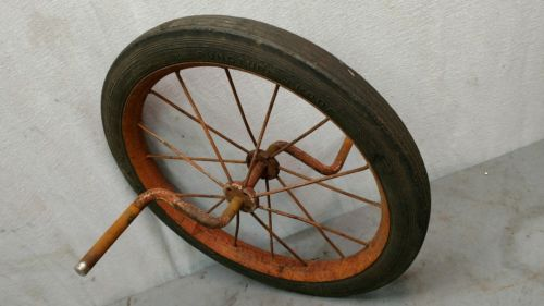 Antique tricycle front wheel & tire Midwest Industries others Swan 16 x 1.75