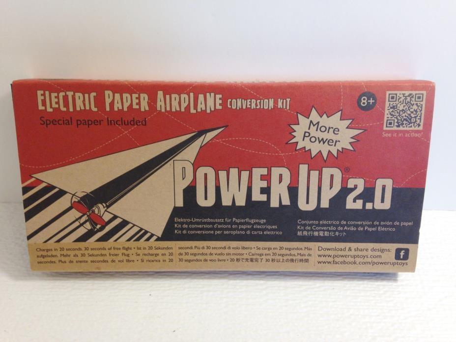PowerUp 2.0 Electric Paper Airplane Conversion Kit DIY Plane Unused