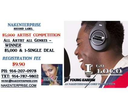 Record Label $5,000 Artist Competition (All US)