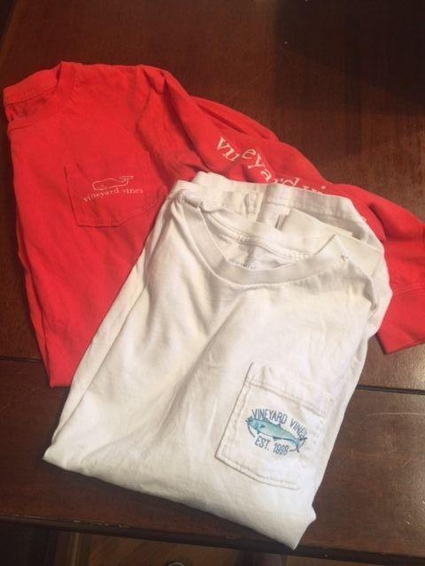 Boys Vineyard Vines Lot Long Sleeve Tee Shirts, Size M