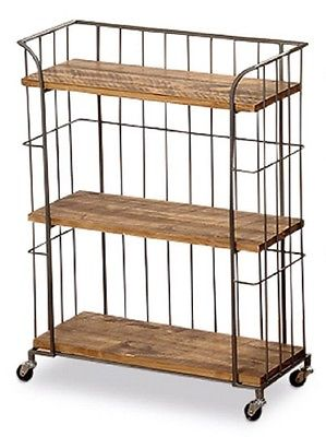 Whole House Worlds Urban Chic 3 Shelf Rolling Rack
