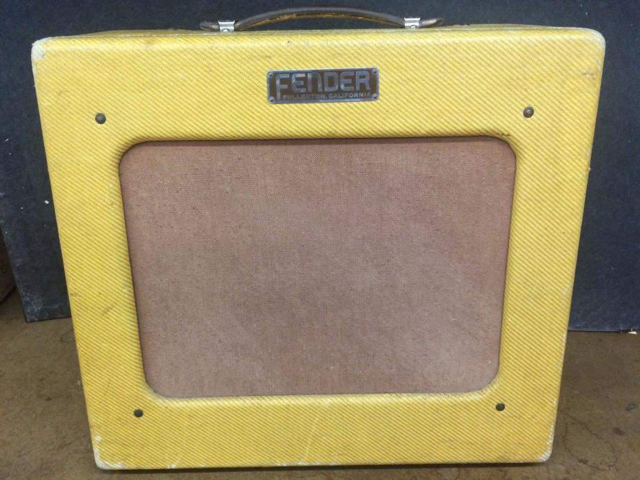 1951 Fender TV Face Deluxe Tweed Amp - Great Vintage Tone & Condition