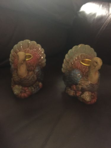 Turkey Candle Holder Set.