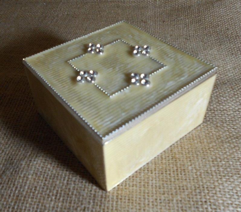 Small Metal Trinket Dish holder box Jewelry