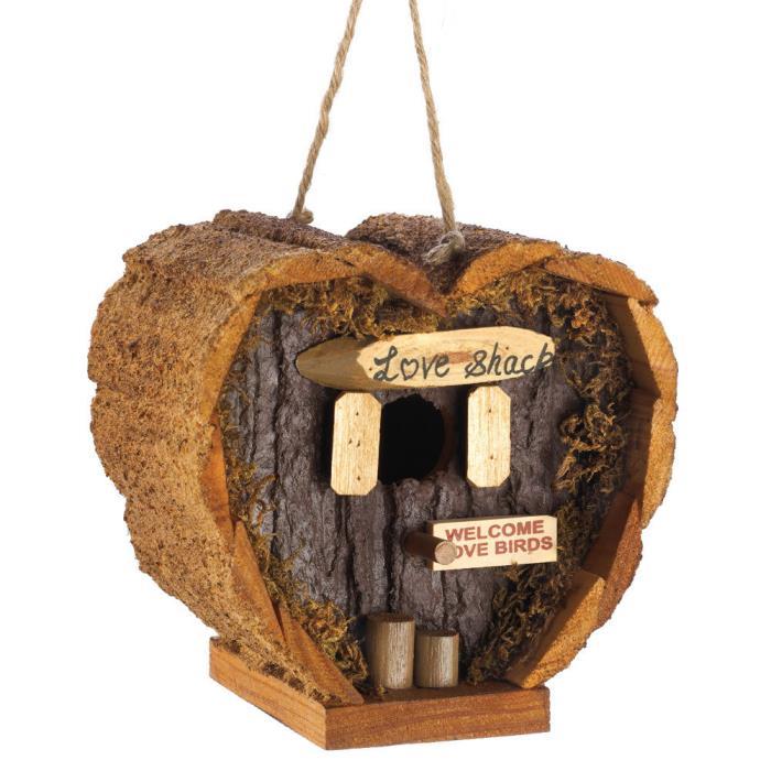 Heart Love Shack Birdhouse