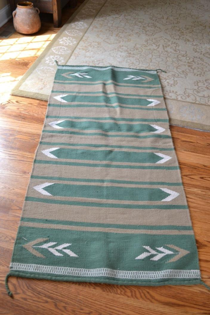 BEAUTIFUL VINTAGE WOOL HORSE SADDLE BLANKET EXCELLENT CONDITION!