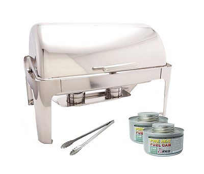 PrestoWare  Roll-Top Chafer ,Stainless Steel Chafing Dish Set