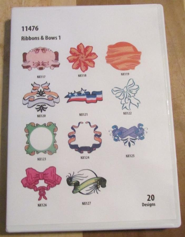 OESD Embroidery Machine Designs CD Ribbons & Bows 1 11476