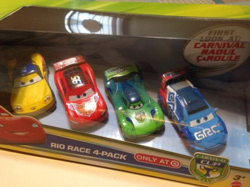 Disney / Pixar Cars Carnival Cup Rio Race  Car 4-Pack