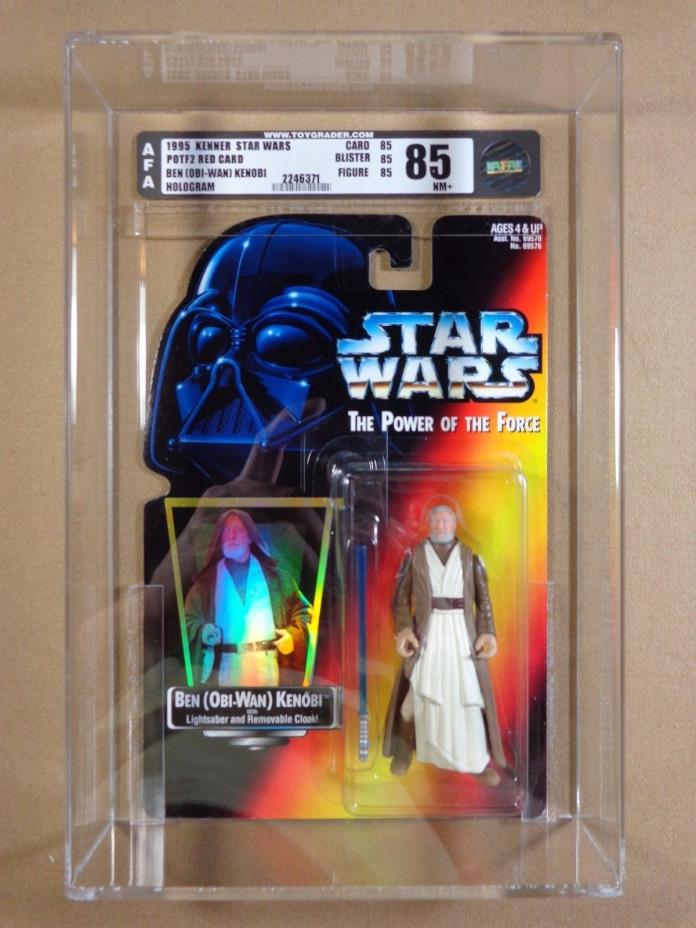 1995 HASBRO Star Wars POTF2 Obi-wan Kenobi AFA 85 Hologram Walking Photo