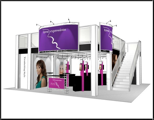Double Deck Trade Show Booth Exhibit 30 x 30 Display