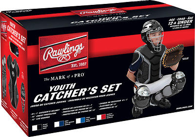Rawlings Renegade Catcher's Set-Ages 12 and Under Black/Silver