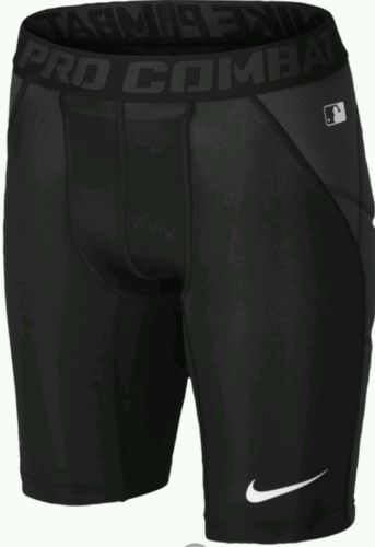 New $30 Nike Pro Combat Baseball Sliding Shorts Black Youth Boys XL Extra Large