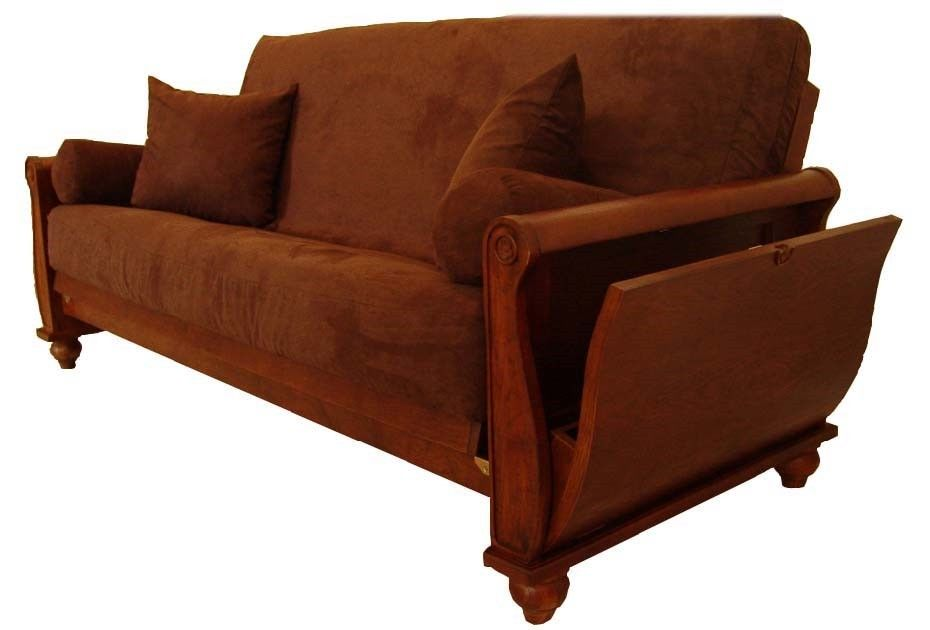 Queen Size Futon Sofa Bed Solid Wood Frame Wholesale Furniture Lot (10 units)