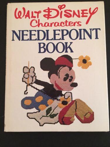 1976 Walt Disney Characters NEEDLEPOINT Cross Stitch Pattern Book Mickey Mouse