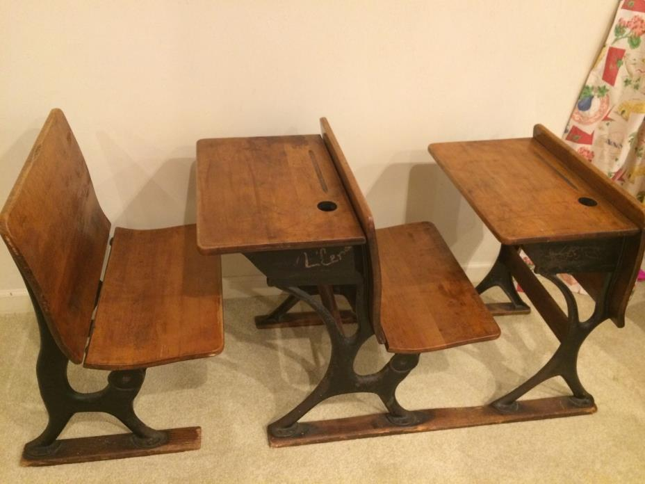 antique school desk with ink well for sale classifieds. Black Bedroom Furniture Sets. Home Design Ideas