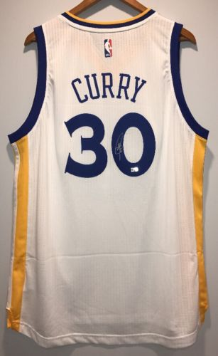 Stephen Curry Autographed Warriors Authentic Signed Swingman Jersey (FANATICS)