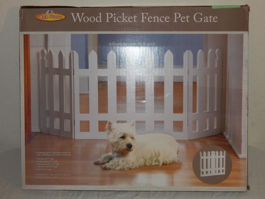 Pet Store Etna White Picket Fence Pet Gate