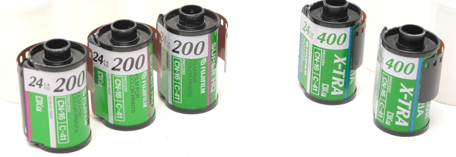2) Fuji Superia 100  & 3) Super HQ 35mm
