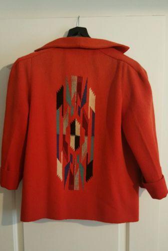 SUPERB VINTAGE1940'S 50'S Chimayo RED MULTI COLOR DESIGN JACKET