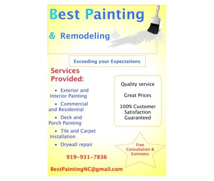 Quality Paint Services in NC