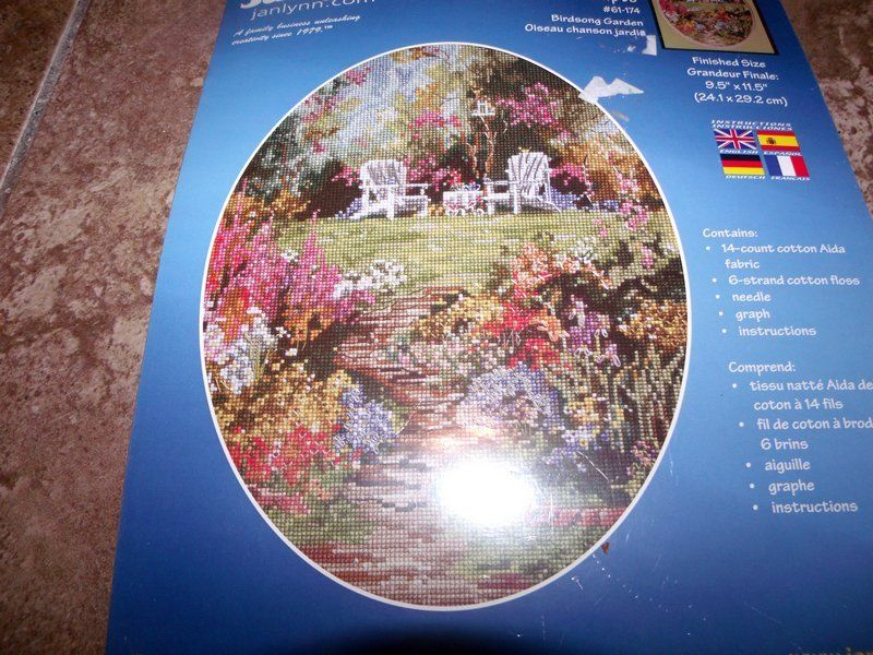 Janlynn BIRDSONG GARDEN Counted Cross Stitch Kit!
