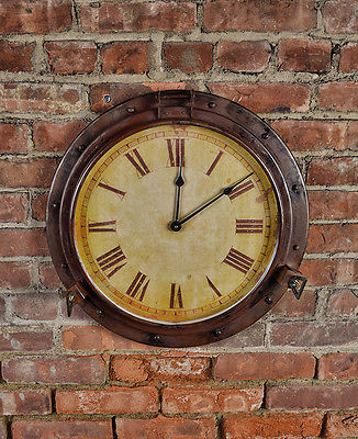 Industrial Mill Clock - Nautical Clock - Steampunk Clock - Wall Clock - Decor