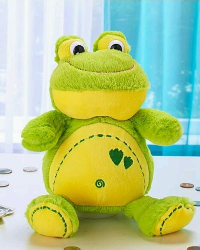 NEW CUTE & CUDDLY PLUSH  COIN BANK WITH SOUND