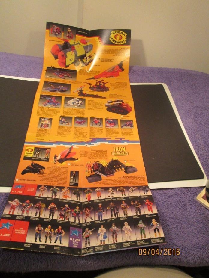 G.I Joe 1987 Advertisement booklet