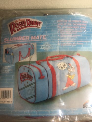 Who Framed Roger Rabbit Slumber Mate Bag Rare Hard To Find Overnight Bag Travel