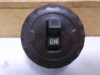 Antique FEDERAL Light Switch hubbel porcelain light socket  ROUND BAKELITE