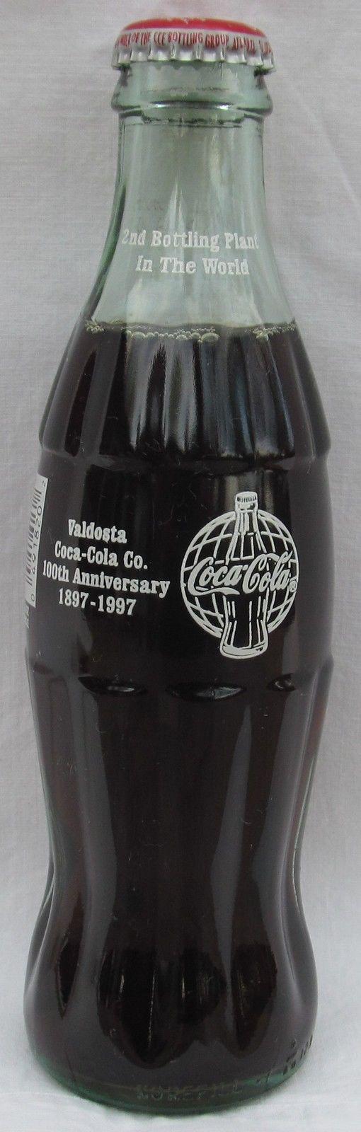 Valdosta Coca-Cola Co 100th Anniversary 1897-1997 COKE Bottle 2nd Bottling Plant